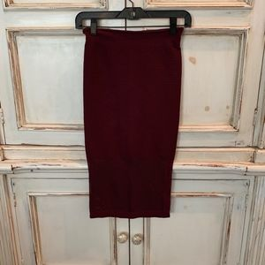 BCBGeneration Maroon Pencil High Wasted Skirt